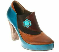 Spring Step Style Deco Leather Shooties