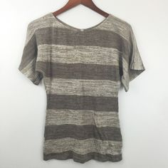Grayish Brown Striped Dolman Stylish and comfy knit top Mon Ami Tops