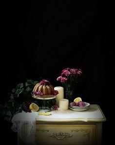 Lavender Earl Grey Bundt Cake with Lemon Vanilla Glaze