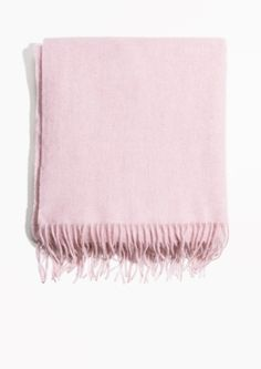 & Other Stories image 1 of Oversized Wool Scarf in Light Pink