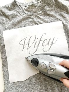 do it yourself divas: DIY Wifey and Hubby T-Shirts for Wedding, Honeymoon, or Anniversary