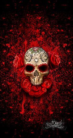 We at Digoil Renowned are an artist based company, proudly family owned and operated in the USA. Sugar Skull Art, Sugar Skulls, Day Of The Dead Skull, Skull Wallpaper, Candy Skulls, Skulls And Roses, Mexican Skulls, Skull Tattoos, Art Tattoos
