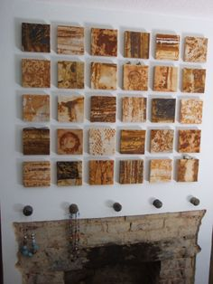 ...rust dyed cloth mounted above the fireplace...they always make me think of toast