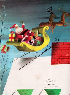 """The Night Before Christmas"" illustrated by Leonard Weisgard (1949)"