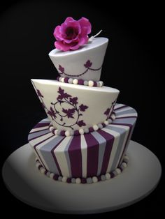 www.facebook.com/cakecoachonline - sharingMadhatter Purple and Ivory