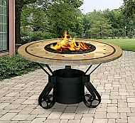 """48"""" Solano Dining Height Laguna Mosaic Tile Top Fire Pit"""