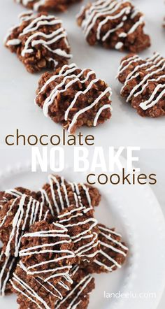 Classic NO BAKE Chocolate Cookies Recipe - just like mom used to make! I LOVE these!