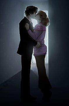 Sherlolly for StrawberryPatty -AS- commish II by *Sempaiko on deviantART - Sherlock & Molly