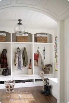 Love the drawers under the hooks instead of shoes