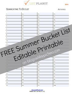 Have you started dreaming up your summer bucket list yet?? CLICK HERE to get a FREE Summer Bucket List printable!