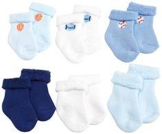 Gerber Baby-Boys Newborn 6 Pack Variety Cozy Socks, Blue/White, 3-6 Months Gerber,http://www.amazon.com/dp/B007C4GGQE/ref=cm_sw_r_pi_dp_uj1dsb1BZ6R3QN2J