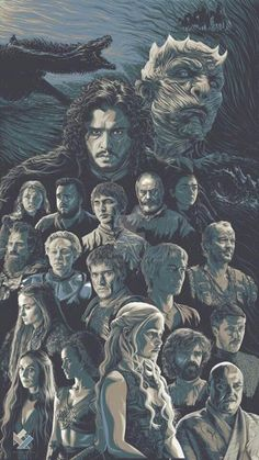 This is my Game of Thrones illustration/poster art tribute for their finished season. I am doing each characters a year ago and this time I joined a. Game of Thrones Art Tribute Dessin Game Of Thrones, Game Of Thrones Artwork, Game Of Thrones Facts, Game Of Thrones Dragons, Game Of Thrones Funny, Game Thrones, Game Of Thrones Characters, Got Quotes Game Of Thrones, Game Of Thrones Illustrations
