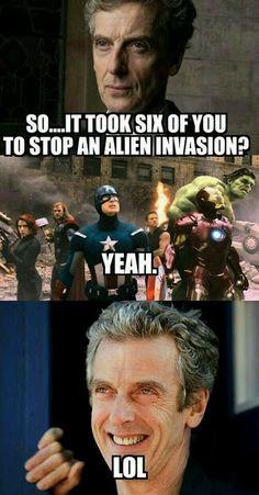 Ha! Silly Avengers.