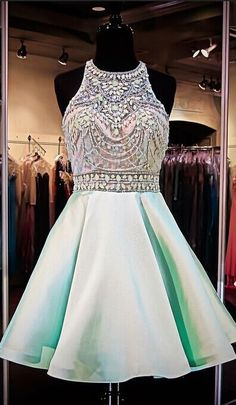 Mint Green Homecoming Dresses Chiff