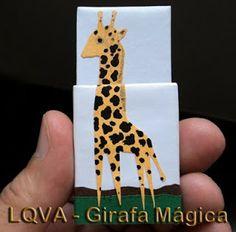 Lixo Que Vira Arte: Girafa Mágica em Caixa de Fósforos