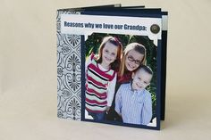 We gave this to my father-in-law for Father's Day this year. This is a great grandma/grandpa gift that you could use for their birthdays too! I made him this little mini album 7 years ago, and he LOVED it. And for the last few years, he has reminded me how much he loves his photo …