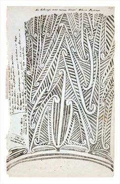 The early historian and ethnologist Wiremu Maihi Te Rangikāheke drew this puhoro tattoo pattern in about while working as a cultural adviser to Governor George Grey. The puhoro is tattooed on the thighs. Tribal Tattoo Designs, Maori Designs, Chris Garver, Maori Patterns, Henna Patterns, Art Maori, Nz Art, Pattern And Decoration, Tattoos