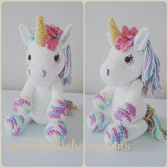 €6 LAVENDER UNICORN Crochet Pattern - Amigurumi PDF instant download -- croch, plush, anim, sauntr, horsy, unicorn,