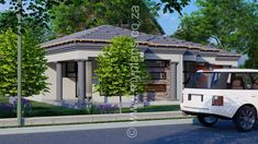 3 Bedroom House Plan - My Building Plans South Africa Single Storey House Plans, House Plans South Africa, 4 Bedroom House Plans, Tuscan House, Dream House Exterior, Building Plans, Open Plan, Master Suite, Mlb