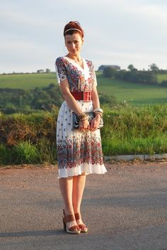 4459fa10018 Not Dressed As Lamb - Vintage floral dress Casual Wedding