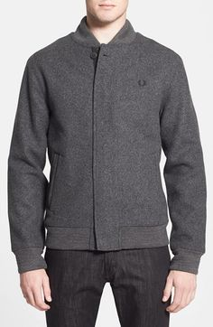 Fred Perry Wool Blend Bomber Jacket