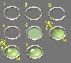 This is a tiny tutorial to illustrate how I draw jewels. The principle is very similar to the one used in the eye tutorial. This tutorial uses Ulead Photoimpact 8 and Corel Painter 8 - mind you, Ph...