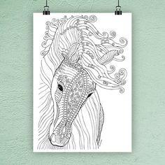 Kůň 1. (pro vílu) / Zboží prodejce výtvarné potřeby | Fler.cz Colouring Pages, Adult Coloring Pages, Animals And Pets, Cross Stitch, Crafty, Fun Stuff, Pictures, Art, Quote Coloring Pages