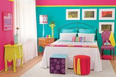 colorful bedroom for girls