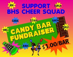 Cheer Squad Candy Bar Fundraiser