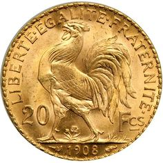 Goldberg Auctioneers / September Pre-Long Beach Auction ( - / World Gold Coins / Lot France. French Franc, French Coins, The Republic, Gold Coins, Coqs, Auction, Personalized Items, Bing Images, Mad