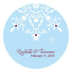 WINTER ROMANCE SMALL STICKER (package of 36)
