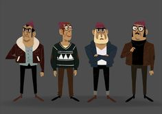 "Character design for a short film called ""Taupes"", by Léo Verrier"