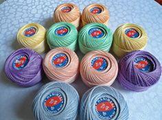 coton yarn 12 balls fine crochet50 number by Yarnshopping on Etsy, $29.00