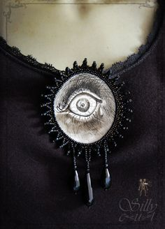 victorian gothic brooch Mourning You dark romantic by sillycut