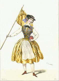 fanny cerrito | Fanny Cerrito dans La Vivandière en 1844…
