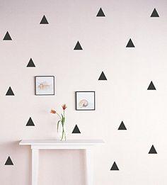 "Amazon.com: Triangle Wall Decal /Gold triangle Decal / 2.5"" triangle sticker / Kids wall decoration / nursery wall decal: Handmade"