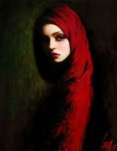 Taras Loboda Silvia, oil on canvas, 78 x 63 cm, private collection. Taras Loboda was born in Ivano-Frankovsk, Ukraine but currently lives and works in Prague. He is the son of a famous Ukrainian artist. He stated painting at an early age and. Red Riding Hood, Caricatures, Geisha, Love Art, Amazing Art, Muse, Art Photography, Street Art, Art Gallery