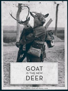 GOAT is the new DEER - Hipster promo graphic