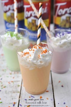 Make Your Own Flavored Milk Bar - a quick, easy, fun, last minute and cute idea for a treat that will make any occasion a party!