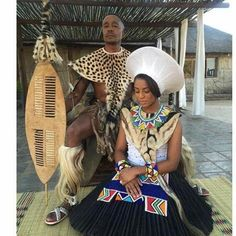 Bride&Groom #Zulu #weddingattire                                                                                                                                                                                 Más