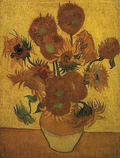 Vase with Fifteen Sunflowers, Vincent van Gogh Vaan Gogh Museum, Amsterdam Art Van, Van Gogh Art, Vincent Van Gogh, Van Gogh Museum, Flores Van Gogh, Vase With Fifteen Sunflowers, Desenhos Van Gogh, Van Gogh Still Life, Van Gogh Sunflowers