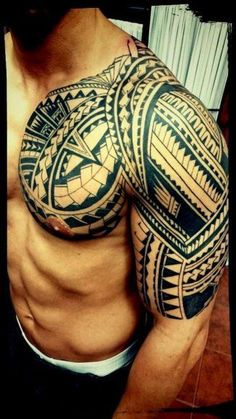 marquesan tattoos for guys Tribal Chest Tattoos, Tribal Tattoos For Men, Cool Arm Tattoos, Maori Tattoos, Marquesan Tattoos, Samoan Tattoo, Star Tattoos, Body Art Tattoos, Tattoos For Guys