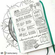 A great year-end review for today's Throwback Thursday. Sketchnote style. Reflecting on the year past and how to make the new one even better. Like vinegar to a window. . . #Repost @boho.berry with @repostapp. . . ・・・ Another post for this month's #bulletjournalchallenge ☺️ November's challenge, hosted by Kim @tinyrayofsunshine is all about #reflection... What better way to reflect than with a year end review? I took my favorite prompts from @iamlisajacobs's #yby2016 and created this…