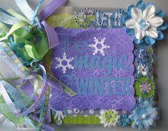 Acrylic scrapbook album winter