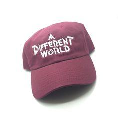 0910c772d69 A Different World TV Show Maroon Dad Cap Hat Exclusive Retro Rare Vtg