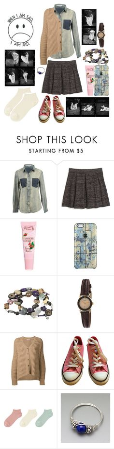 """""""Susan Teel 5"""" by stockmon ❤ liked on Polyvore featuring Pink Stitch, Madewell, ASOS, Fat Face, American Apparel, Michael Kors, Converse, Uniqlo, Lazuli and 2017"""