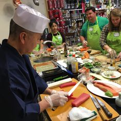 Master Sushi Workshop | Get one-on-one pointers in this small, HANDS ON class. The Chef will demonstrate knife skills, share knowledge on using the highest quality ingredients, and show you what tools you need to become a sushi master in your own home. #sushiclasses #DIYsushi #learntomakesushi #WhiskCarolina