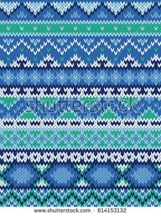 Knitted pattern Knitting Paterns, Fair Isle Knitting Patterns, Knitting Stitches, Knit Patterns, Stitch Patterns, Tejido Fair Isle, Charts, Needlework, Cross Stitch