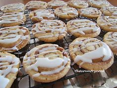 Cinnamon roll cookies! Ohhhhh people--sugar cookie dough is used and I am drooling as I type this:) YUM!