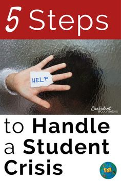 5 Steps to Handle a Student Crisis. Student crisis is part of every school counselor's job. It is important to be prepared with effective protocols and resources. http://confidentcounselors.com/2017/09/14/5-steps-handling-student-crisis-plus-suicide-preve